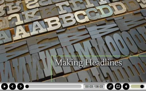 """Making Headlines"" documentary: title screen"