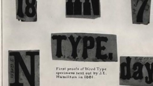 """Making Headlines"" documentary: Early Hamilton type samples"