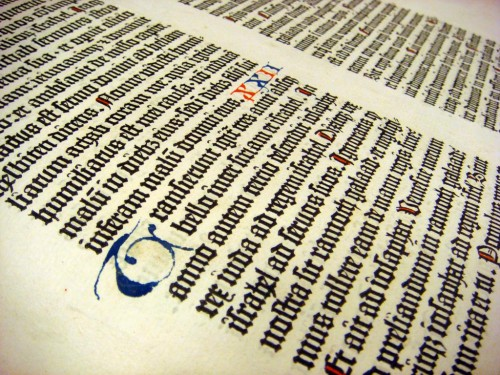 Gutenberg Bible initial