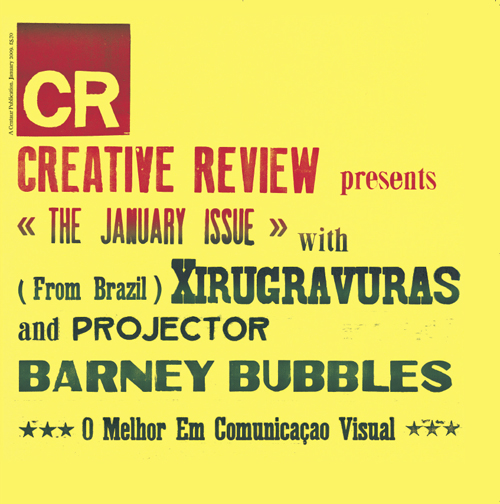"Cover of the Jan 2009 issue of ""Creative Review"", designed by Grafica Fidalga"