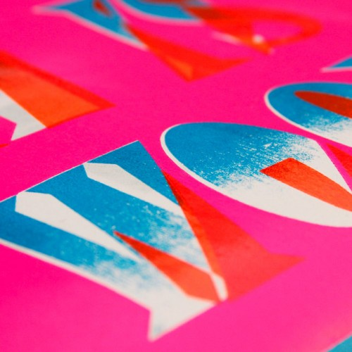 """Detail of a poster sheet from the """"Woodtype Now!"""" project by Dafi Kühne"""