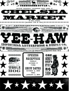 Yee-Haw - Chelsea Market poster