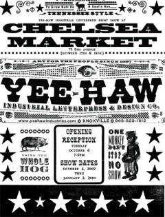Yee-Haw - Chelsea Market poster