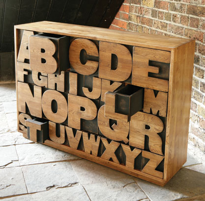 Kent & London Alphabet Drawers
