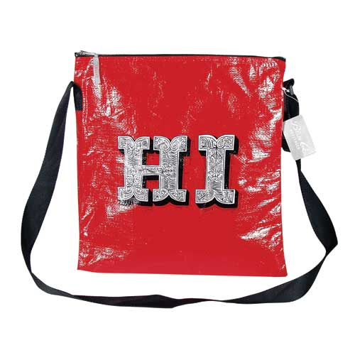 Blue Q HI/BYE bag by ray Fenwick