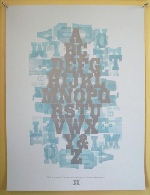 Hamilton Wood Type Museum specimen sheet print