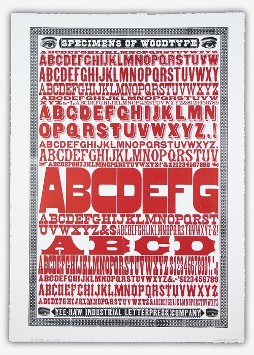 Yeehaw Industries wood type specimen poster