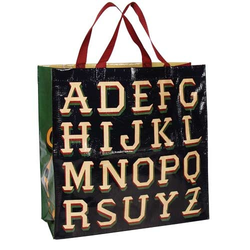 Blue Q Alphabet Shopper bag