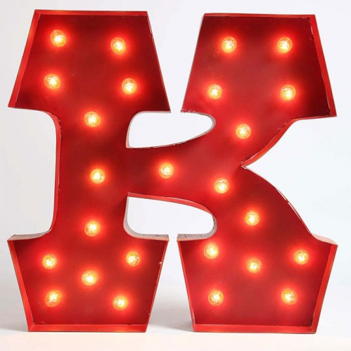 Urban Outfitters marquee alphabet light (K)